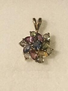 【送料無料】ネックレス kゴールドサファイアペンダント9k gold fancy sapphire pendant buy now