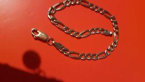 【送料無料】ネックレス ゴールドフィガロリンクブレスレットインチ9 ct gold figaro link bracelet75 inch 52 g hallmarked