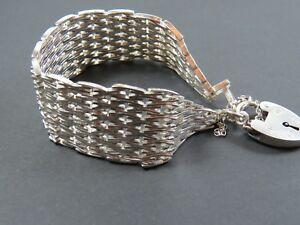 【送料無料】ネックレス ビンテージスターリングシルバーファンシーゲートリンクブレスレットvintage sterling silver fancy gate link bracelet 1976