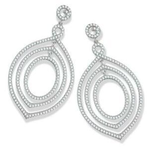 【送料無料】ネックレス スターリングシルバーマイクロファンシーシェイプイヤリングドロップ925 sterling silver micro pave fancy shape drop cz earrings