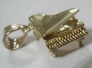 【送料無料】ネックレス genuine 9ct yellow gold solid piano pendantcharmgenuine 9ct yellow gold solid piano pendantcharm