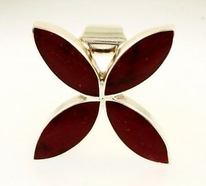 【送料無料】ネックレス スターリングシルバークランベリーオレンジペンダントsterling silver cranberry amber pendant 29x30mm