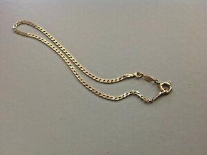 【送料無料】ネックレス 9ct 9k 375イェローゴールドチェーン208アンクレット187グラムmm9ct 9k 375 solid yellow gold chain bracelet anklet 187grams 208mm