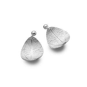 【送料無料】ネックレス カーブリーフイヤリングドロップドロップcurved leaf drop earrings sterling silver 925 hallmarked drops