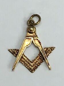 【送料無料】ネックレス ヴィンテージ9ctフリーメーソンコンパスチャーム11グラムvintage 9ct gold masonic compass charm 11grams