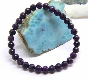 【送料無料】ネックレス rare natural round dark purple african sugilite beadsstretch bracelet 76mmrare natural round dark purple african sugilite