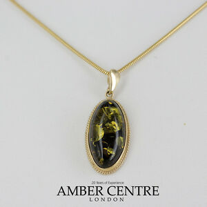【送料無料】ネックレス 9ctゴールドgp0033g rrp195イタリアドイツペンダントitalian handmade german green amber pendant in 9ct gold gp0033g rrp195