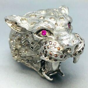 <title>送料無料 営業 ネックレス スターリングシルバージャガーキュービックジルコンドレスリングサイズmassive 925 sterling silver jaguar cubic zircon dress ring size q 059</title>