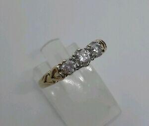 【送料無料】ネックレス イエローゴールドトリロジーリングハートスクラップ listingsolid 14ct yellow gold trilogy ring heart detail sparkly dqcz stones o not scrap