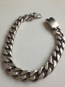 送料無料 ネックレス スターリングシルバーブレスレットメキシコグラムミントsterling silver men bracelet 超激得SALE 925 made condition 59 grams mint 『4年保証』 mexican