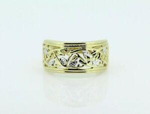 【送料無料】ネックレス イエローゴールドジプシーリング9ct yellow gold gypsy ring