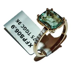 【送料無料】ネックレス イエローゴールドトスカーナホワイトジルコンリングサイズgemporia 9ct yellow gold, tuscan green fluorite amp; white zircon ringuk size r12