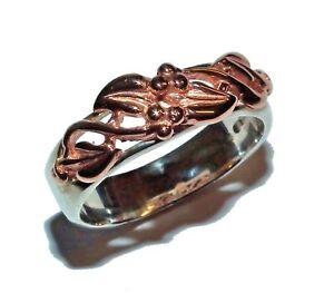 【送料無料】ネックレス シルバーウェールズローズライフケルトリングゴールドツリーサイズ¥cymru silver amp; welsh rose gold tree of life celtic ring uk size n was 199