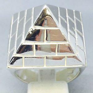 <title>送料無料 ネックレス ハンドメイドソリッドスターリングシルバーピラミッドリングサイズhandmade 925 solid sterling silver pyramid mans dress ring size y 847 新作入荷!!</title>