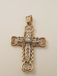 <title>送料無料 ネックレス ゴールドキュービッククロスペンダント1 adorable 9ct gold cubic zircinia cross pendant full british hallmark 人気の製品</title>