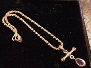 【送料無料】ネックレス ゴールドアメジストブレスレット9ct gold amethyst bracelet low