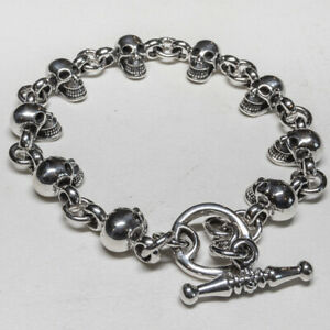 送料無料 新作送料無料 ネックレス スカルブレスレットシルバーバイカーゴシックケルトskull bracelet 925 silver feeanddave 贈呈 celtic pagan gothic biker
