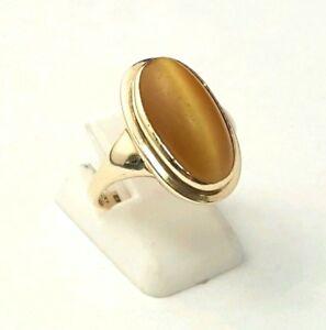 <title>送料無料 未使用 ネックレス ソリッドゴールドキャッツアイリング1 stunning 9ct solid gold tigers eye ring</title>