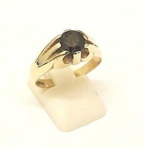 送料無料 ネックレス ガーネットジプシーリングフルstunning 9ct gold single stone 今季も再入荷 ring hallmark 国内即発送 garnet full gypsy british