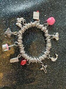 送料無料 ネックレス ロンドンスターリングシルバーキャンディブレスレットリンクlinks of london 注目ブランド sterling silver bracelet sweetie charm 10 ファクトリーアウトレット with charms
