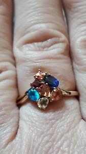 【送料無料】ネックレス oハーレクインサイズnmulti9kゴールド128ctsize n to o harlequin natural multicoloured gemstone 9k gold ring 128ct