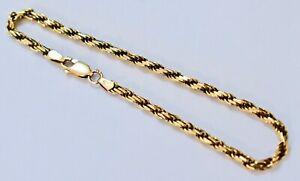送料無料 ネックレス イタリアソリッドktイエローロープツイストロングブレスレットtop quality italian solid 9kt yellow long 8 豪華な 年末年始大決算 68gr wt twist bracelet rope