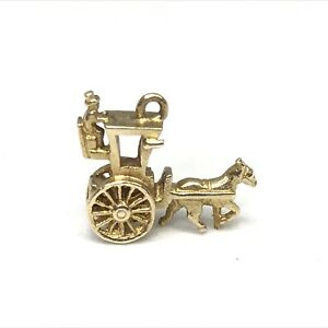<title>送料無料 ネックレス ゴールドキャリッジ9ct 特別セール品 gold horsedrawn carriage charm</title>