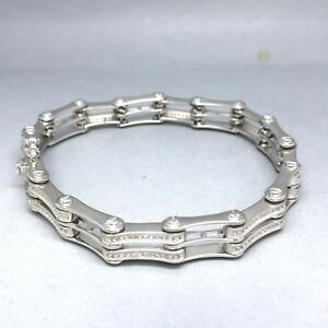 【送料無料】ネックレス スターリングシルバーキュービックジルコンセットゲートブレスレットstunning 925 sterling silver cubic zircon stone set mens gate bracelet  1916