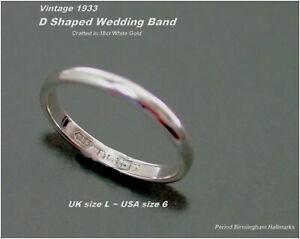 【送料無料】ネックレス ホワイトゴールドサイズバーミンガムwhite gold wedding ring size l d shaped 18ct hm c1933 birmingham 21g 23mm