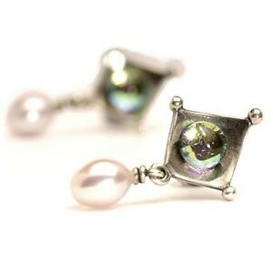 <title>送料無料 ネックレス おトク イヤリングダイクロイックauthentic trollbead earrings dichroicpearl tagea00054</title>