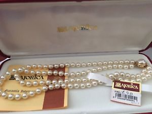 送料無料 店内限界値引き中&セルフラッピング無料 ネックレス ダブルストランドストランドパールサイズmajorica pearls double strand 全店販売中 each 7mm x pearl size long 50cm