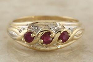 送料無料 新品 ネックレス イエローゴールドマルチリングサイズsecondhand 9ct yellow gold multi 国内即発送 12 n ornate size ruby ring