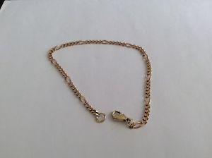 <title>大好評です 送料無料 ネックレス ゴールドフィガロチェーンブレスレット9ct gold 8 figaro chain bracelet</title>