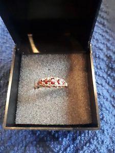 送料無料 日本未発売 ネックレス ヴィンテージゴールドリングルビサイズvintage 9ct gold ring o チープ size setting ruby 5 with