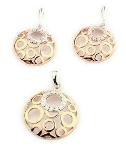 最安値挑戦 送料無料 中古 ネックレス レディースジュエリーペンダントセットイヤリングスターリングシルバーladies jewelry set pendant and 925 sterling ros earrings silver 420389