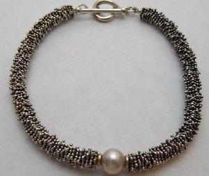 <title>送料無料 SALENEW大人気! ネックレス マイケルドーキンズkゴールドトグルブレスレットmichael dawkins qvc 925 amp; 14k gold granulation pearl toggle bracelet</title>
