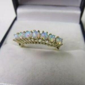 【送料無料】ネックレス イエローゴールドリングセットサイズバーミンガムbeautiful 7 opals set in 9ct yellow gold ring, size m, hallmarked birmingham