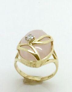 【送料無料】ネックレス ゴールドローズクオーツリングサイズ9ct gold rose quartz ring size l12