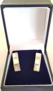 <title>送料無料 ネックレス ホワイトゴールドイヤリングコレットロンドン9ct white gold earrings collet set with mother of 激安 激安特価 送料無料 pearlhallmarked london 375</title>