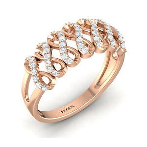 送料無料 ネックレス レディースローズゴールドクロスリングhallmarked 70%OFFアウトレット ladies 9ct rose gold jewelry gemstone ring 2020 cz cross criss engagement