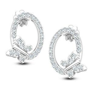 【送料無料】ネックレス レディースホワイトゴールドスタッドドロップイヤリングladies 18ct white gold amp; cz stud drop gemstone jewelry earrings uk hallmarked