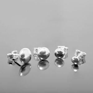 【送料無料】ネックレス セールスターリングシルバーフラットビーズボールスタッドイヤリング 925 sterling silver flat bead ball studs earrings 3mm 6mm