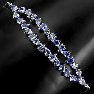 【送料無料】ネックレス スターリングシルバータンザナイトスライダーブレスレットインチsterling silver 925 genuine natural tanzanite slider bracelet up to 11 inches
