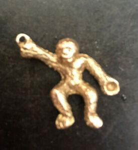 <title>往復送料無料 送料無料 ネックレス ゴールドモンキーゴリラチンパンジーペンダント9ct gold monkey gorilla chimp charm pendant hallmarked</title>
