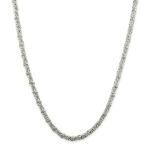 <title>送料無料 ネックレス スターリングシルバーソリッドファンシービザンチンチェーンロブスタークラスプsterling silver 通常便なら送料無料 solid 4mm fancy byzantine chain w lobster clasp 18 24</title>