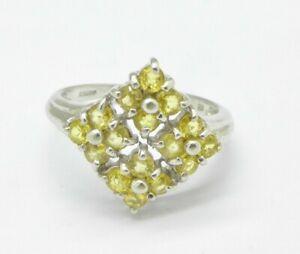<title>送料無料 スーパーセール期間限定 ネックレス 9ctホワイトゴールドレモンレモンリングサイズnstunningly beautiful fully hallmarked 9ct white gold lemon citrine ring size n</title>