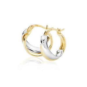 <title>送料無料 ネックレス ホワイトイエローゴールドフープイヤリング 9ct white 安い 激安 プチプラ 高品質 amp; yellow gold hoop earrings</title>
