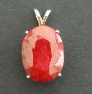 <title>送料無料 ネックレス ルビーオーバルカット×スターリングシルバーペンダントgenuine ruby oval cut マーケット 16 x 12mm 1191ct sterling silver pendant</title>