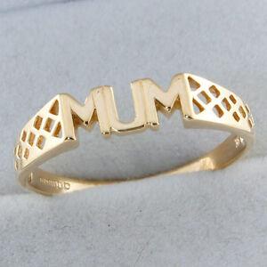 送料無料 ネックレス 9ctイェローゴールドmumリングrrp150c126 fancy 日本産 9ct yellow gold dress 150 mum ring c126 激安格安割引情報満載 rrp