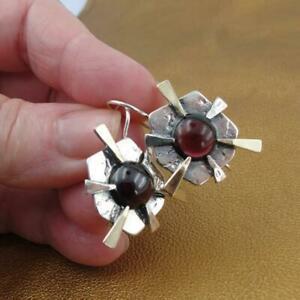 <title>送料無料 登場大人気アイテム ネックレス ハダルデザイナーガーネットイヤリングハンドメイドkゴールドスターリングシルバーミリhadar designers red garnet earrings bold handmade 9k gold sterling silver ms</title>